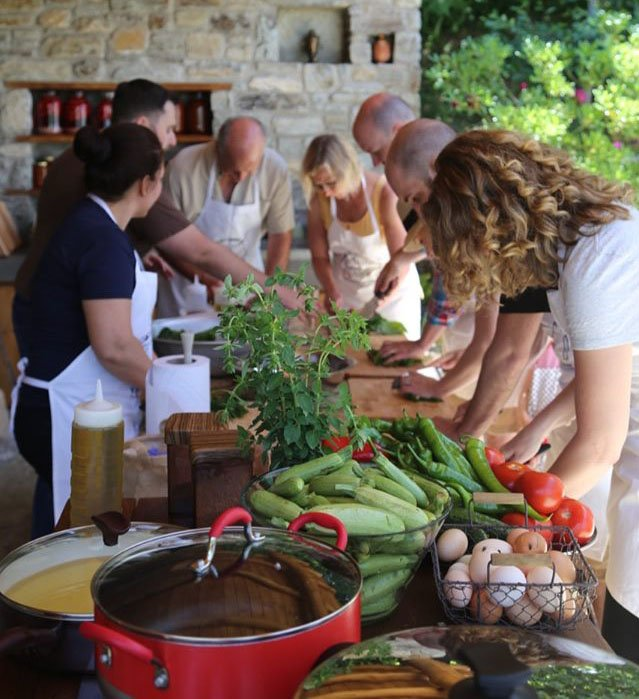 Greek cooking lesson - Discovering the secrets of Pelion cuisine
